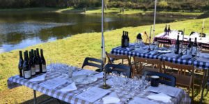 fishing lunch, corporate event, inspiring events, outdoor food experience, team building, away days, corporate entertainment
