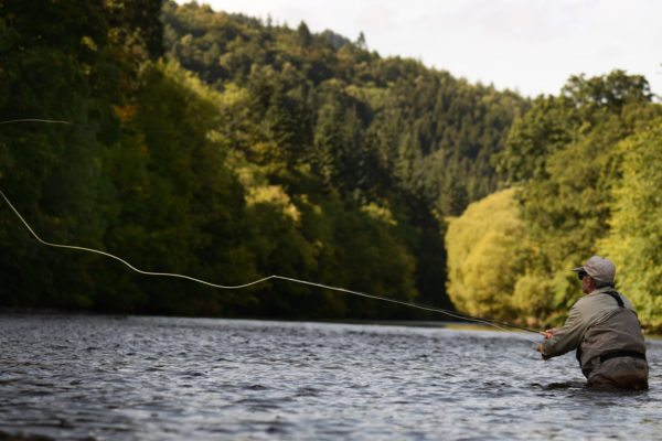 We have private trout fishing on the River Tweed