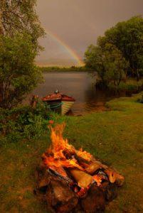 loch Awe, trout fishing, secret island, boat fishing, Orvis Guide