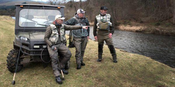 River Tweed, Orvis Guides, Polaris 4x4, winter grayling fishing,