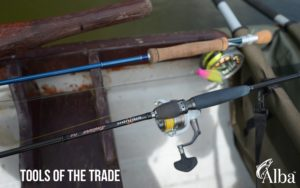 pike tackle, pike fly, Sakura spinning rod