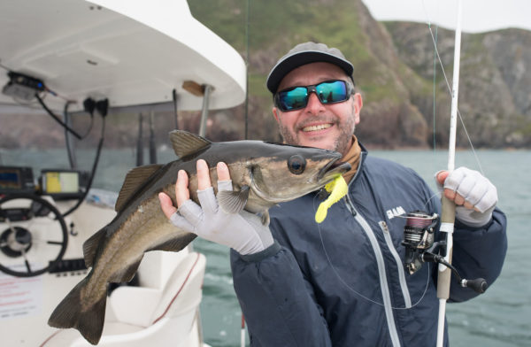 Pollock lures, Shimano Sustain, chartreuse lures,, sea fishing trips Scotland