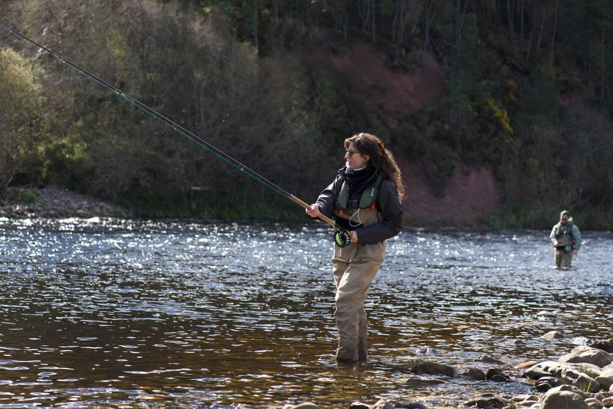 Guided salmon fishing river spey orvis endorsed for Fly fishing casting