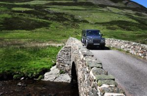 4x4 hire, fishing land rover, County, defender, Alba Game Fishing