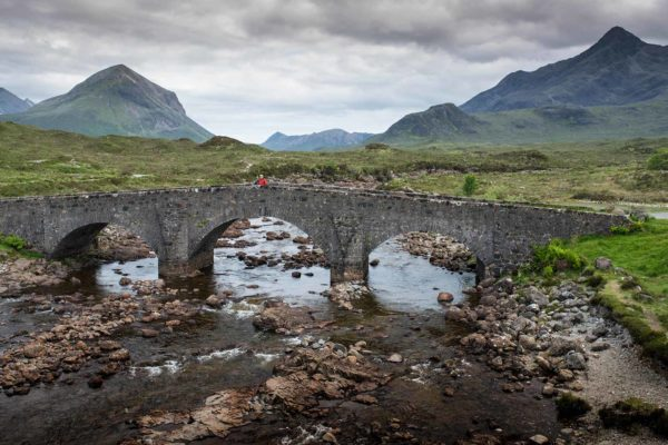 Sligachan Bridge, Skye, scenic fishing locations in Scotland, Orvis Guides, Scotland, fishing in Scotland.