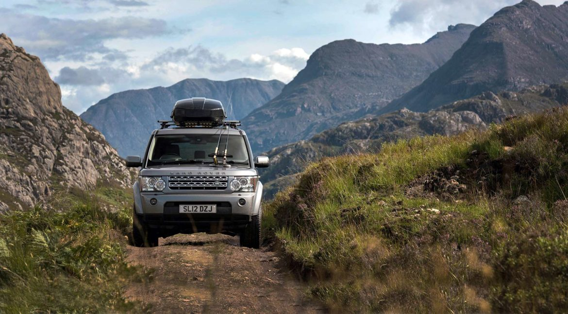 scottish highlands, trout fishing, wild brown trout, Land Rover Discovery