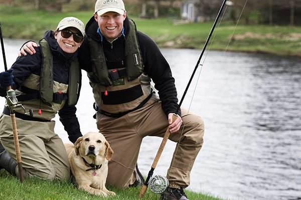 Guests from the USA set to fish for the day in Scotland on the River Tay