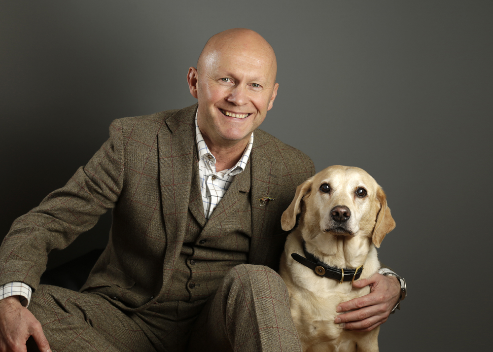 Stewart Collingswood, Keely, Fishing Dog, Orvis Endorsed Guide, Managing Director, Photographer