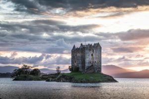 castle stalker, castle, Scottish, Monty Python, Argyll, West Coast Scotland, River Lochy, Glencoe House
